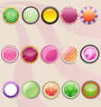 Set of round buttons colorful icon vector image vector image