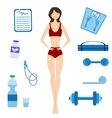 Slimming girl and Healthy lifestyle vector image
