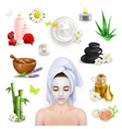 Spa beauty and care icons set vector image vector image