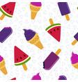 summer ice cream fun seamless pattern design vector image vector image