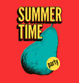summer time party grunge vintage pop art poster vector image vector image