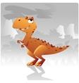 t-rex dinosaur vector image vector image