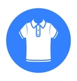 T-shirt icon of for web and vector image vector image