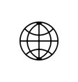 the globe icon black on white vector image vector image