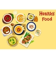 Thick cream soups icon for healthy food design vector image vector image
