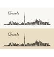 Toronto skyline Canada vintage engraved hand drawn vector image vector image