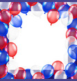 usa flag theme balloon background with white paper vector image