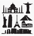 world famous places silhouettes vector image