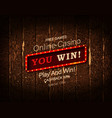 you win banner vector image vector image