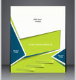 layout business brochure magazine cover vector image