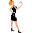 Cocktail waitress vector image