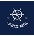 Compass Steering Wheel Symbol Icon or Logo vector image