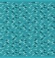 blue brick wall seamless pattern vector image