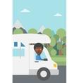 Man driving motor home vector image