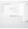 White folded paper vector image