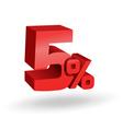 5 percent digits vector image vector image