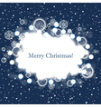 abstract christmas cloud over winter background vector image vector image