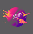 abstract geometric background sports poster vector image