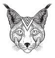an Ornamental Ethnic Lynx vector image vector image