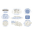 bakery set monochrome labels badges vector image