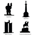 belgrade most famous statue vector image