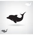 Black stylized silhouette of a Dolphin vector image vector image