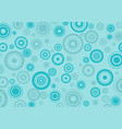 blue circle seamless pattern vector image vector image