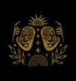 boho abstract symbols navajo boho indians vector image vector image