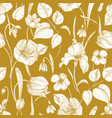 botanical seamless pattern with spring blooming vector image vector image