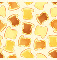 bread slice toast with jam - seamless pattern vector image vector image
