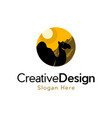 camel animal wildlife desert logo vector image vector image