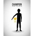 celebrate champion vector image