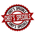 chefs specials label or sticker vector image