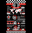 chess game infographic with pieces vector image