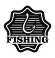 classic fishing hook logo simple style vector image vector image