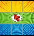 comic vs bright composition vector image vector image