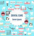 dental clinic poster vector image vector image