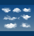 different types of realistic clouds vector image
