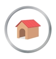 Doghouse icon in cartoon style for web vector image vector image