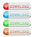 download colored buttons set vector image vector image