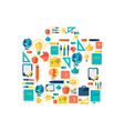 education flat concept vector image