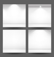 empty white photo studio interior background set vector image vector image