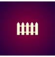 fence icon Flat design style vector image vector image