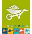 Flat design garden wheelbarrow vector image