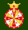 Fortune wheel golden coins casino gambling game