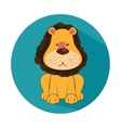 funny lion circus icon vector image vector image