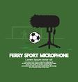 Furry Sport Microphone vector image vector image