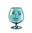 glass goblet woman face character vector image vector image