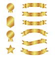 Gold ribbons and badges vector image vector image