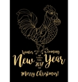 Golden rooster symbol on the Chinese calendar vector image vector image